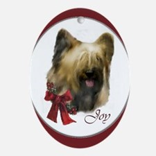 Briard Christmas Ornament (Oval)