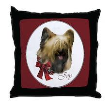 Briard Christmas Throw Pillow
