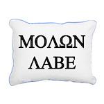 MOLON LABE Rectangular Canvas Pillow