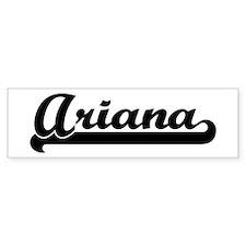 Black jersey: Ariana Bumper Bumper Sticker
