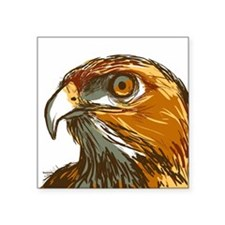 "Hawk Square Sticker 3"" x 3"""