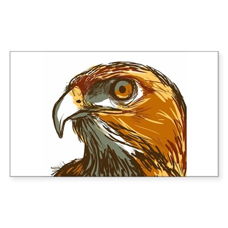 Hawk Sticker (Rectangle)