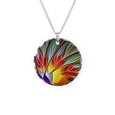 Fractal Bird of Paradise 2 Necklace