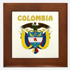 Colombia Coat of arms Framed Tile
