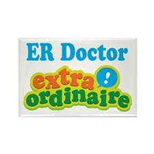 ER Doctor Extraordinaire Rectangle Magnet