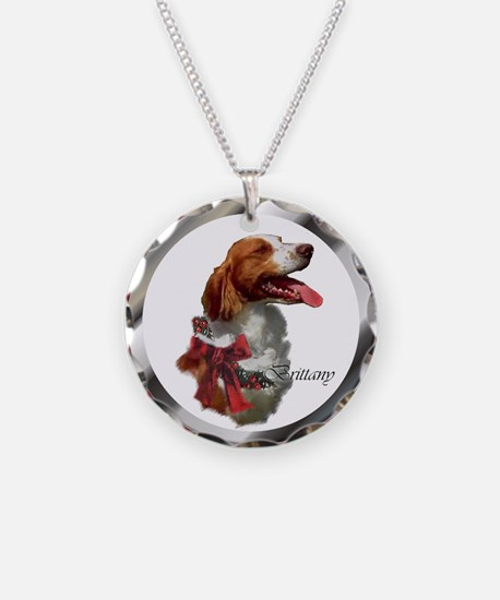 Brittany Spaniel Christmas Necklace