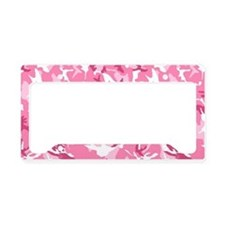 Cute Pink camouflage License Plate Holder