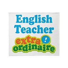 English Teacher Extraordinaire Throw Blanket
