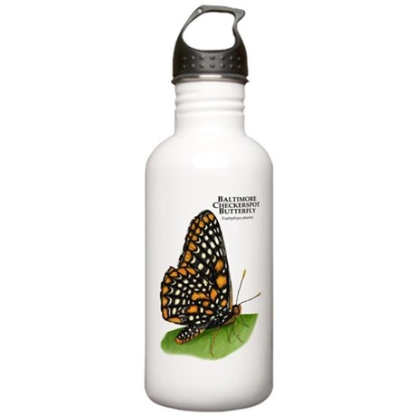 Baltimore Checkerspot Butterfly Stainless Water Bo
