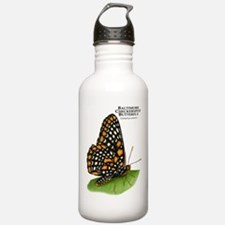 Baltimore Checkerspot Butterfly Water Bottle