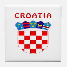 Croatia Coat of arms Tile Coaster