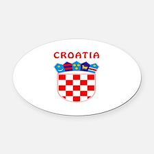 Croatia Coat of arms Oval Car Magnet