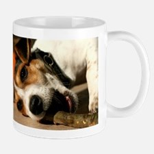 Jack Russell Terrier Puppy Chewing Stick Mug