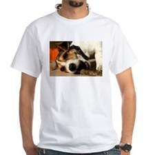 Jack Russell Terrier Puppy Chewing Stick Shirt