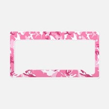 Unique Pink camouflage License Plate Holder