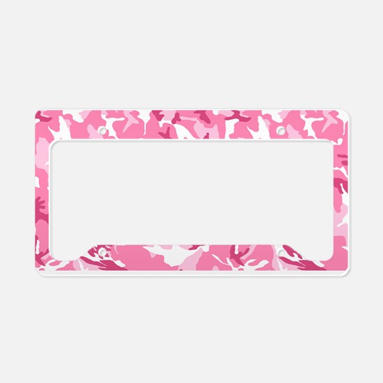 Funny Pink camo License Plate Holder