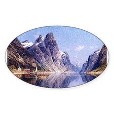 A Norwegian Fjord Scene Decal