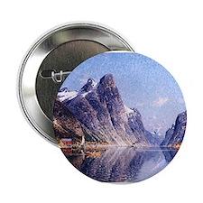 """A Norwegian Fjord Scene 2.25"""" Button"""