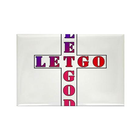 Let Go, Let God Rectangle Magnet