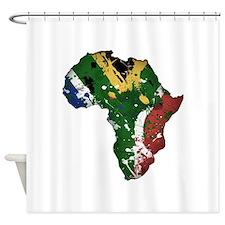 Afrika Graffiti Shower Curtain
