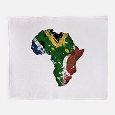 Afrika Graffiti Throw Blanket