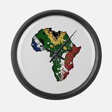 Afrika Graffiti Large Wall Clock