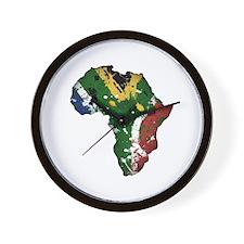 Afrika Graffiti Wall Clock