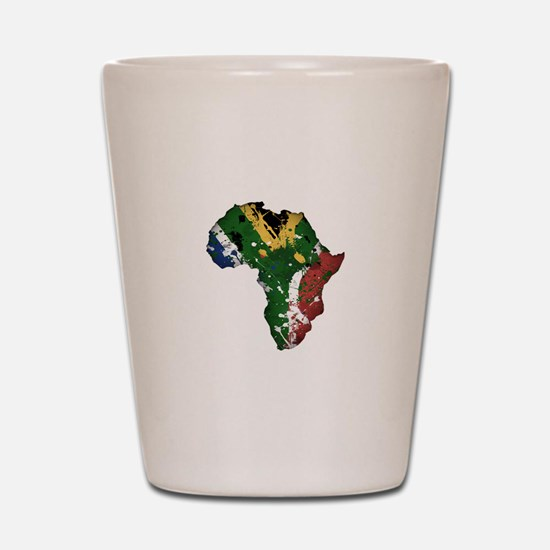 Afrika Graffiti Shot Glass