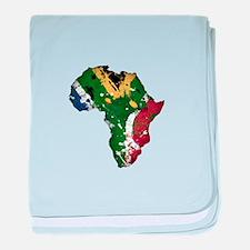 Afrika Graffiti baby blanket