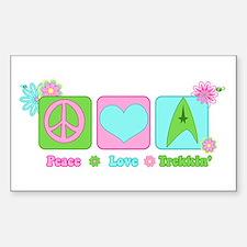 Peace Love Trekkin' Decal