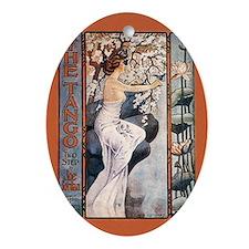 Vintage Music Art Nouveau Tango Ornament (Oval)