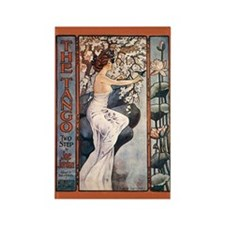 Vintage Music Art Nouveau Tango Rectangle Magnet