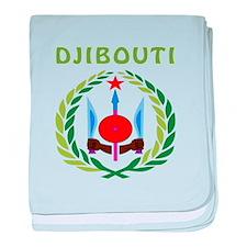 Djibouti Coat of arms baby blanket