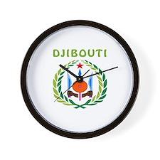 Djibouti Coat of arms Wall Clock