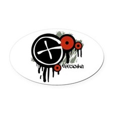 Geocaching Vector Design Oval Car Magnet