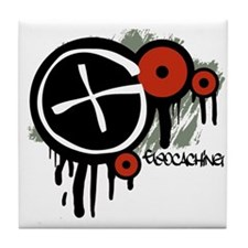 Geocaching Vector Design Tile Coaster