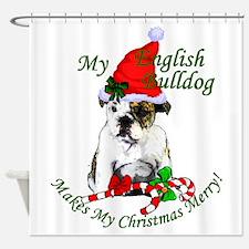 English Bulldog Shower Curtain