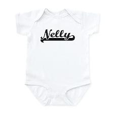 Black jersey: Nelly Infant Bodysuit