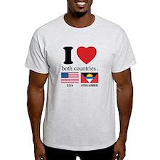 USA-ANTIGUA & BARBUDA T-Shirt
