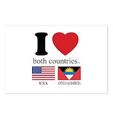 USA-ANTIGUA & BARBUDA Postcards (Package of 8)