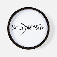Squeak Box Wall Clock
