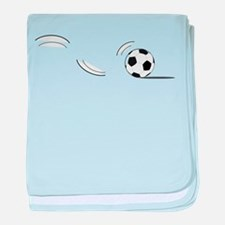Bouncing Soccer Ball baby blanket