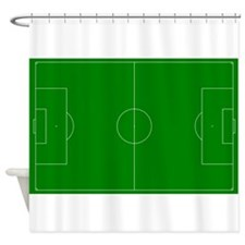 Green Soccer Field Shower Curtain