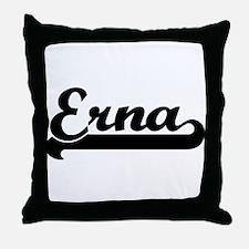 Black jersey: Erna Throw Pillow