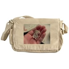 Adorable Sleeping Baby Hamster Messenger Bag