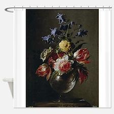 Antique Painting of a Floral Bouquet Shower Curtai