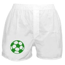 Green Soccer Ball Boxer Shorts