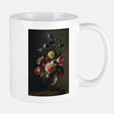Antique Painting of a Floral Bouquet Mug