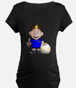 Cartoon Soccer Player Kid T-Shirt