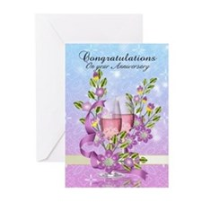 Wedding Anniversary Greeting Card (Pk of 10)